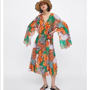 Zara Tropical Summer Dress *BNWOT*